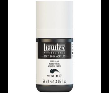 LIQUITEX SOFT BODY ACRYLIC  59ML IVORY BLACK
