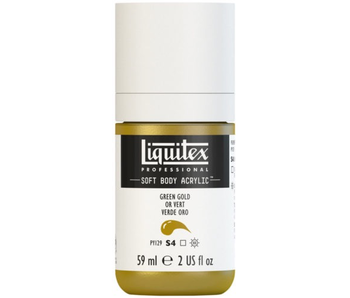 LIQUITEX SOFT BODY ACRYLIC  59ML GRN GOLD