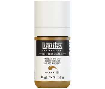 LIQUITEX SOFT BODY ACRYLIC  59ML IRID RCH GOLD