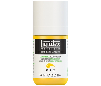LIQUITEX SOFT BODY ACRYLIC  59ML CAD FR YLW MD
