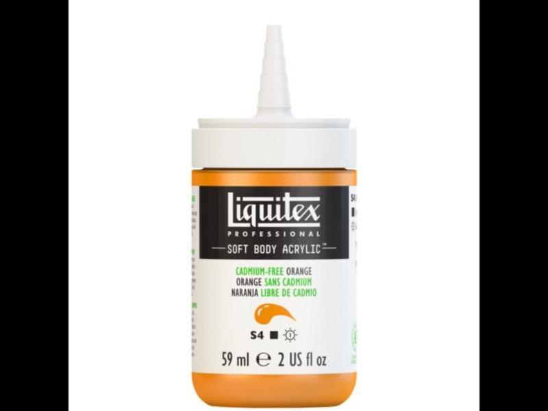 LIQUITEX SOFT BODY ACRYLIC  59ML CAD FR ORANGE