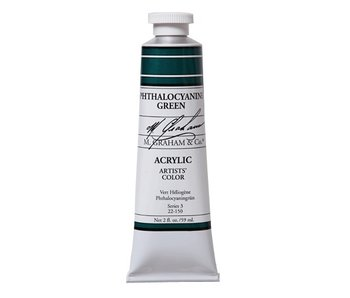 M. GRAHAM ARTISTS ACRYLIC 5OZ PHTHALOCYANINE GREEN