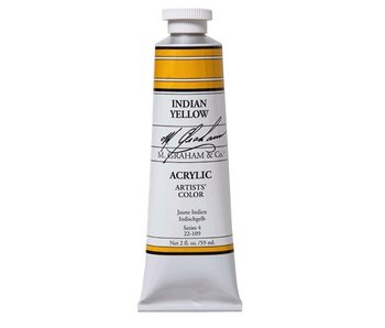 M. GRAHAM ARTISTS ACRYLIC 2OZ INDIAN YELLOW