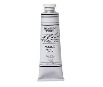 M. GRAHAM ARTISTS ACRYLIC 2OZ TITANIUM WHITE