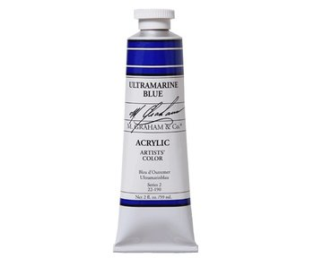 M. GRAHAM ARTISTS ACRYLIC 5OZ ULTRAMARINE BLUE