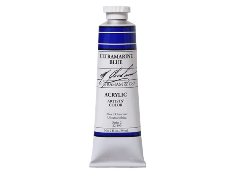 M. GRAHAM ARTISTS ACRYLIC 5OZ ULTRAMARINE BLUE