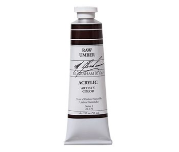 M. GRAHAM ARTISTS ACRYLIC 5OZ RAW UMBER