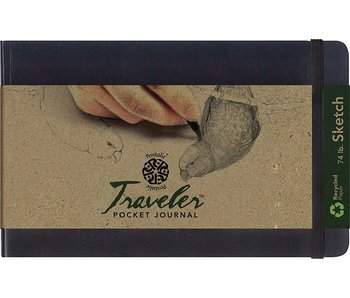 PENTALIC TRAVELER POCKET JOURNAL 5x8 SC BLACK