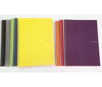 FABRIANO ECOQUA NOTEBOOK SP 8.5x11.5 BLANK A4 STONE GREY