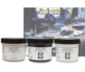 DANIEL SMITH WATERCOLOR GROUND 4OZ TITANIUM WHITE