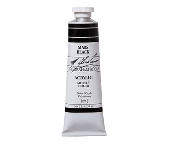 M. GRAHAM ARTISTS ACRYLIC 2OZ MARS BLACK