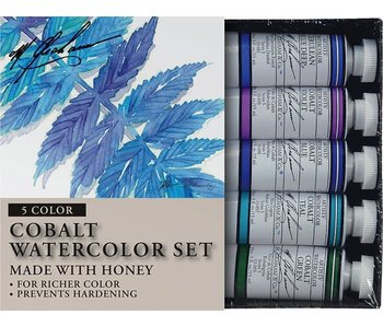 M. GRAHAM 5PK SET: COBALT WATERCOLOUR