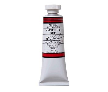 M. GRAHAM WATERCOLOUR 15ML NAPHTHOL RED