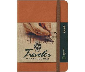 PENTALIC TRAVELER POCKET JOURNAL GRID 4x6 BROWN