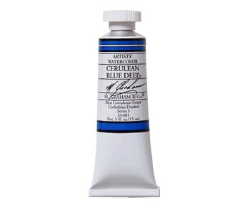 M. GRAHAM WATERCOLOUR 15ML CERULEAN BLUE DEEP