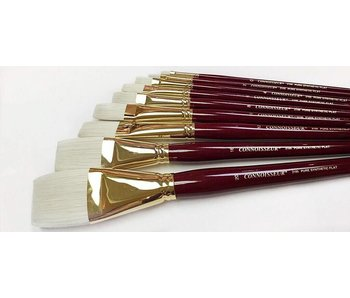 CONNOISSEUR PURE SYNTHETIC LH BRUSH FLAT #16