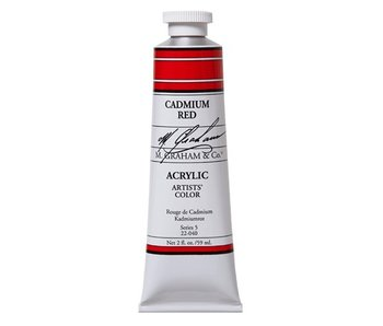 M. GRAHAM ARTISTS ACRYLIC 5OZ CADMIUM RED