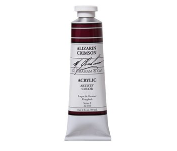 M. GRAHAM ARTISTS ACRYLIC 2OZ ALIZARIN CRIMSON
