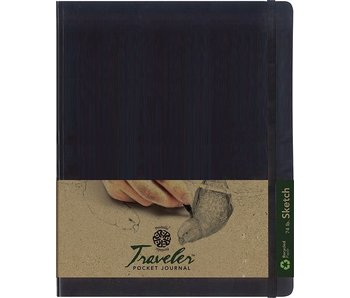 PENTALIC TRAVELER POCKET JOURNAL 8x10 SC BLACK