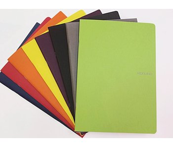 Fabriano Ecoqua Notebook Stapled 8.5X11.5 Lined A4 Black