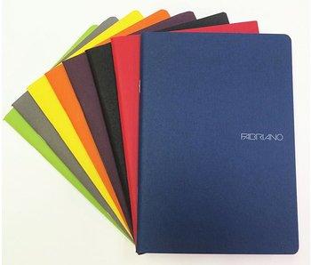FABRIANO ECOQUA NOTEBOOK STAPLED 6x8 BLANK A5 STONE GREY