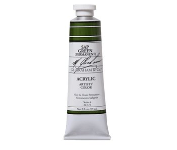M. GRAHAM ARTISTS ACRYLIC 2OZ SAP GREEN (PERMANENT)