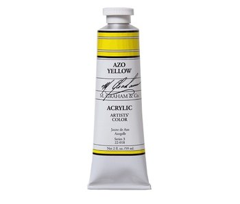 M. GRAHAM ARTISTS ACRYLIC 5OZ AZO YELLOW