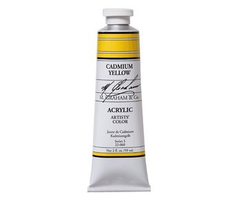 M. GRAHAM ARTISTS ACRYLIC 5OZ CADMIUM YELLOW