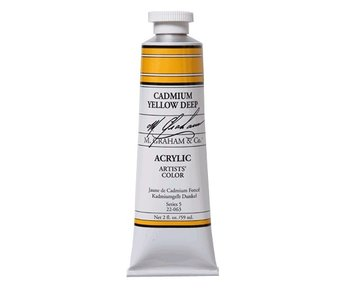 M. GRAHAM ARTISTS ACRYLIC 2OZ CADMIUM YELLOW DEEP