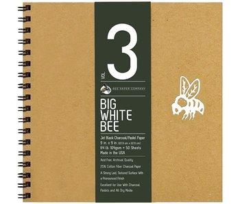 BEE PAPER BIG WHITE BEE CHARCOAL PAD WB 9x9