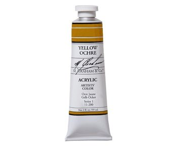 M. GRAHAM ARTISTS ACRYLIC 5OZ YELLOW OCHRE