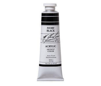 M. GRAHAM ARTISTS ACRYLIC 2OZ IVORY BLACK