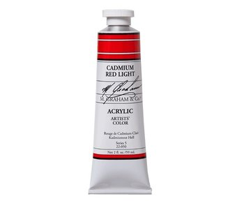 M. GRAHAM ARTISTS ACRYLIC 2OZ CADMIUM RED LIGHT