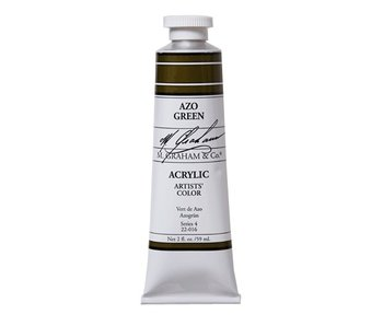 M. GRAHAM ARTISTS ACRYLIC 2OZ AZO GREEN