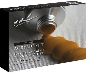 M. GRAHAM ACRYLIC SET 59ml TUBES 5PK + BONUS TITANIUM WHITE