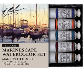 M. GRAHAM 5PK SET: MARINESCAPE WATERCOLOUR