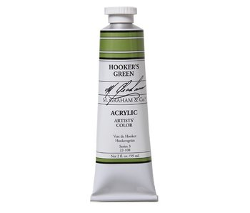 M. GRAHAM ARTISTS ACRYLIC 2OZ HOOKER'S GREEN