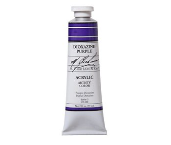 M. GRAHAM ARTISTS ACRYLIC 2OZ DIOXAZINE PURPLE