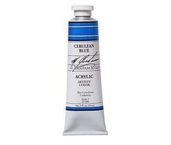M. GRAHAM ARTISTS ACRYLIC 5OZ CERULEAN BLUE