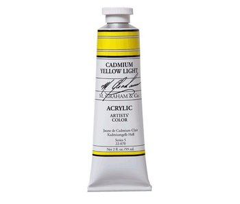 M. GRAHAM ARTISTS ACRYLIC 2OZ CADMIUM YELLOW LIGHT