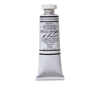 M. GRAHAM WATERCOLOUR 15ML TITANIUM WHITE OPAQUE