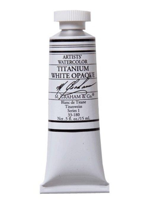 M. GRAHAM WATERCOLOUR 15ML TITANIUM WHITE OPAQUE