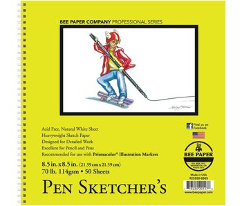 BEE PAPER PEN SKETCHER'S SKETCHBOOK 8.5x8.5 50 SHEETS