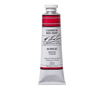 M. GRAHAM ARTISTS ACRYLIC 2OZ CADMIUM RED DEEP
