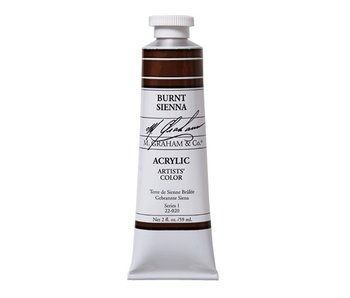 M. GRAHAM ARTISTS ACRYLIC 5OZ BURNT SIENNA