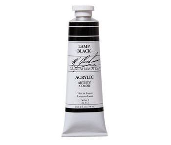 M. GRAHAM ARTISTS ACRYLIC 2OZ LAMP BLACK