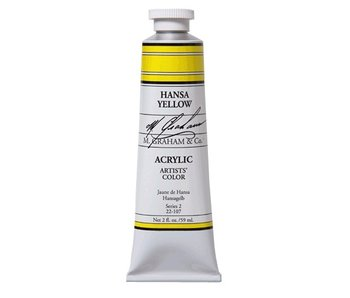 M. GRAHAM ARTISTS ACRYLIC 2OZ HANSA YELLOW