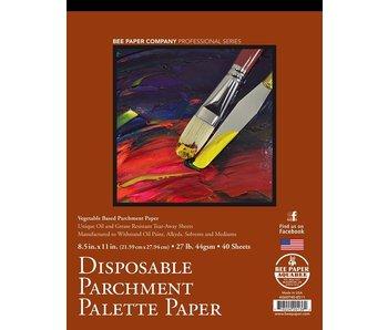 BEE PAPER DISPOSABLE PARCHMENT PALETTE PAPER 8.5x11 40PK