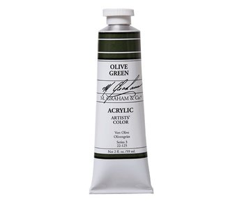M. GRAHAM ARTISTS ACRYLIC 2OZ OLIVE GREEN