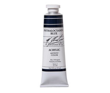 M. GRAHAM ARTISTS ACRYLIC 2OZ PHTHALOCYANINE BLUE